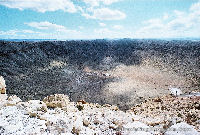 Meteor Crater Arizona. Mile wide impact crater of a meteor about 50 yards thick.
