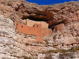 Ancient Native American dwelling called Montezuma's Castle.