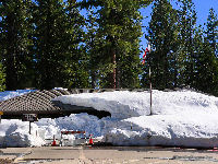 Visitor Center still snow covered in mid-April