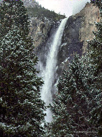 Bridal Veil Falls through woods