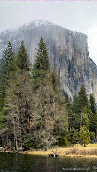 El Capitan acress Merced River