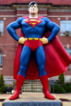 Metropolis IL is SUPER! with a bronze statue of Superman