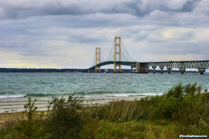 Bridge over the Straights of Mackinac, MI.