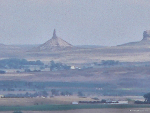 View of Chimney Rock from top of Scott's Bluff.