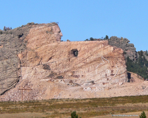Crazy Horse Monument from the road in 2011.