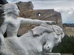 Crazy Horse model and mountain 2014