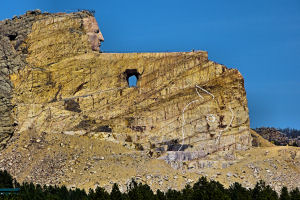 Crazy Horse Monument from the road Fall 2014