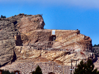 Crazy Horse Monument from the road 2005