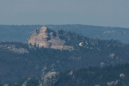 Crazy Horse Monument (under construction over 60 years), Black Hills National Forest, SD