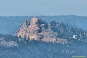Crazy Horse Monument from Mt Coolidge. Click for larger picture.