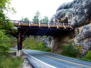 Pigtail bridge at North Tunnel on Iron Mountain Road.