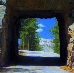 Tunnel framing Mt Rushmore, Black Hills National Forest, SD