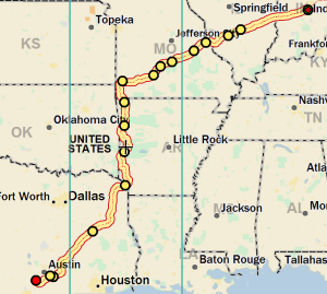 Indy to Texas in Fall of 2014