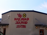 Outside of Railroad Seafood Station