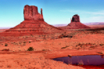 The Mittens in Monument Valley, Navajo Tribal Park.